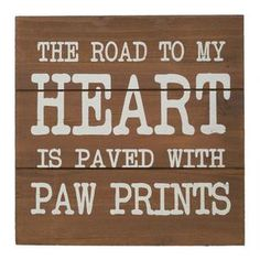 Road to My Heart Wooden Wall Sign
