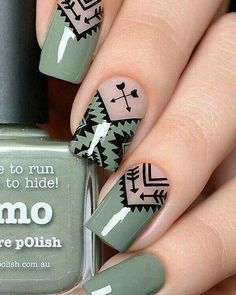Geometric Nail Art Ideas - New Year Nails The whole world of fashion, and so does the manicure world is full of very beautiful, original and creative Cute Acrylic Nails, Cute Nail Art, Fun Nails, Pretty Nails, Geometric Nail Art, Nagel Gel, Super Nails, Nail Decorations, Beautiful Nail Art