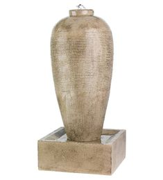 A delight for the ears and eyes, our Large Beige Indoor/Outdoor Jar Fountain will add the soothing sounds of flowing water and the visual delight of sculptur… Feng Shui, Outdoor Water Features, Safari Chic, Garden Fountains, Outdoor Fountains, Vase Shapes, Plein Air, Urn, Indoor Outdoor