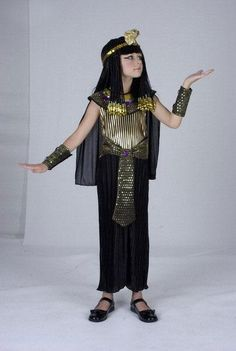 Ancient Egypt Egyptian Pharaoh Cleopatra Prince Princess Costume for Children Kids Cosplay Clothing
