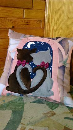 Love... For my friend's daughter . Handmade cushion by Alina Wodzińska