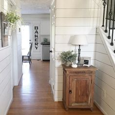 Good morning, friends! I'll be painting again today...Do you think by now I could be considered a professional painter, haha!  I hope everyone has a great day! #simplicity #entry #shiplap #shiplaplove #shiplapwalls #fixerupper #neutral #neutraldecor #farmhouse #farmhousedecor #modernfarmhouse #simple #hgtv #countryhome #homegoods #homegoodshappy