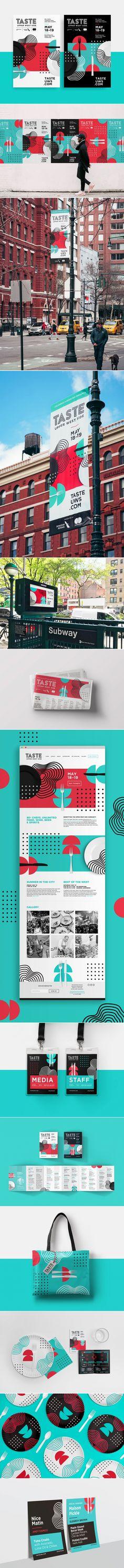 Taste of the upper west side Fivestar Branding Agency Niku Ko - corporate event design Web Design, Book Design, Layout Design, Design Art, Graphic Design Posters, Graphic Design Inspiration, Typography Design, Design Agency, Identity Design