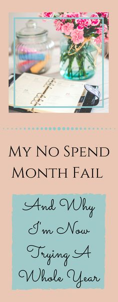 """My """"No Spend Month"""" Fail - And Why I'm Willing To Try A Whole Year ~ How I attempted to not spend a dollar outside of my """"needs"""" and failed, and why that inspired me to try it for an entire year. via @becomingwellthy"""