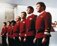 The original crew of the U.S.S. Enterprise.