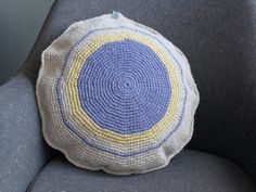 Contemporary Crochet Cushion in Axminster Wool by HeimArt on Etsy, £25.50