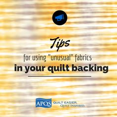 "Think twice before you make a quilt backing out of a bed sheet, batik fabric, or ""white on white"" prints. Read the link for the hidden problems, and tips on how to successfully use such fabrics for your backing when you must"