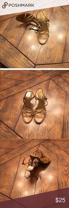 💄Just In💄 Tan Strappy Sandal Tan bebe strapping sandals. New without box. Purchase by 4:00 pm CT for same day shipping. bebe Shoes Sandals