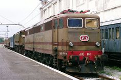 FS electric loco E643.063 at Trieste Railway Museum on 2 June 2012