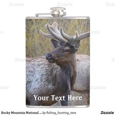 Rocky Mountain National Park Wildlife Animal Elk Hip Flasks This product features wildlife nature landscape photography beautiful bull elks with 8-10 point antlers taken in Rocky Mountain National Park. Great gift for a hunter, outdoorsman or sportsman. Would look great in a rustic cabin, lodge or home. #Mountain #animal #wildlife