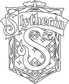 For> Coloring Pages Harry Potter Slytherin - AZ Coloring Pages . For> Coloring Pages Harry Potter Slytherin - AZ Coloring Pages Harry Potter Sketch, Cumpleaños Harry Potter, Harry Potter Quilt, Images Harry Potter, Harry Potter Drawings, Harry Potter Houses, Hogwarts Houses, Slytherin, Hogwarts Crest