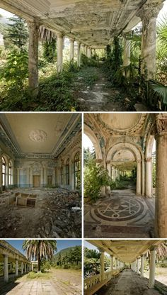 an abandoned railway station in Russia makes for a lovely side garden