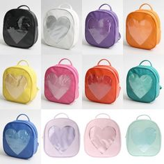 WEGO 'Ita' Heart Backpack Bag  Popular Japanese clothing brand WEGO has come out with a line of heart-shaped bags, designed for the popular anime 'ita bags,' which are bags where you fill the front with merchandise of your favorite character or series.