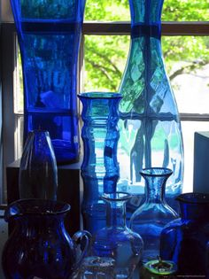 Love blue glass
