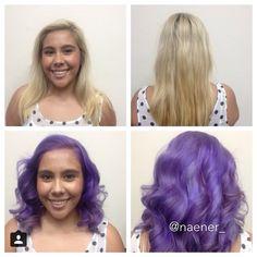 Instagram: naener_  Blonde to purple hair