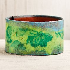 Floral Accessories Leather Cuff Wristband Bracelet. $35.00, via Etsy.