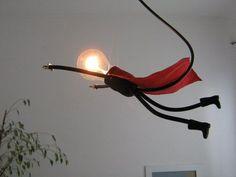Lamp Lamp, unique and stylish handmade design - Photo & # 39 .- Lamp Lampje, uniek en sfeervol handgemaakt design – Foto& SuperLampje: Lamp Lamp, unique and stylish handmade design – Foto & # s SuperLampje: - Vintage Industrial Lighting, Unique Lighting, Lighting Design, Diy Luminaire, Luminaire Design, Diy Luz, Luminaire Original, Ideas Geniales, Bedroom Lamps