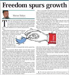 Gelişmek için daha fazla özgürlük şarttır