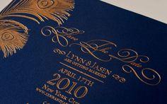 gold foil wedding invitations gold navy wedding colors