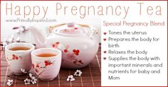 Homemade pregnancy tea. Drink 1 C./day in the first trimester, 2 C./day in the second trimester, and 3 C./day in the third trimester.
