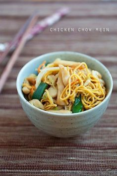 Easy and the most delicious Chicken Chow Mein recipe that is MUCH better and healthier than your regular Chinese takeout. Learn how to make it with this recipe | rasamalaysia.com