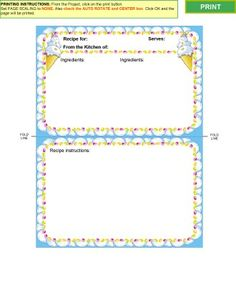 X Recipe Quick Pages And Templates Set  By As You Wish Designs