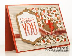 Merry Everything stamp set; Cajun Craze inkpad and cardstock; Sahara Sand and Soft Suede cardstocks; Woodgrain TIEF; Color Me Autumn DSP; Fun Fall & Chalk Talk Framelits; White Organza ribbon (died with Cajun Craze marker); Scallop Tag Topper punch. No Comments »