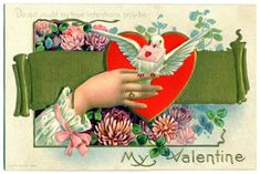 Crazy By Design Enjoying Life and bVintage Valentinesb Vintage Valentine Quilt Pattern 2013 Valentine Wishes, Valentine Images, Vintage Valentine Cards, Happy Valentines Day, Crazy Quilt Blocks, Quilt Block Patterns, Pattern Blocks, Gold Banner, Birthday Postcards