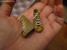 Sandals - shoes for dolls DIY  Peace  #Barbie #miniatures #shoes #dolls #platform #boots #sandals