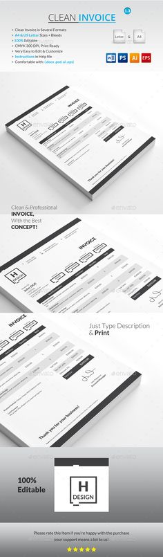Invoice u2014 Photoshop PSD #agreement #print u2022 Download ➝   - how to print invoices
