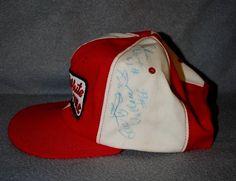 Vintge NASCAR Modified Autographed Ball Cap, RUSTY WALLACE #66, RICKIE EVANS #61 #BaseballCap