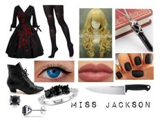 """""""black butler (oc)"""" by ironically-a-strider21 ❤ liked on Polyvore featuring Unique Vintage, Pretty Polly, Trend Cool, Amour, Ice and Kershaw"""