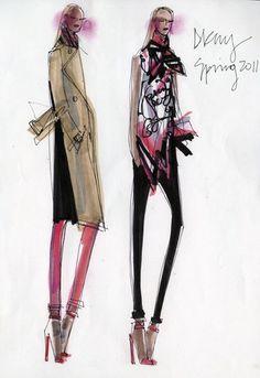 """New York, new take."" — Donna Karan, DKNY sketch"
