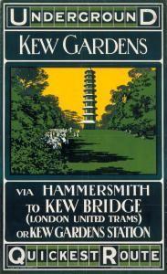 'Transport for London - Kew Quickest Route' Vintage Advertisement Transport Museum, London Transport, Public Transport, London Village, British History, Asian History, Tudor History, London Underground Tube, Strange History