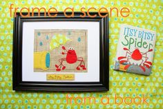 Frame a Scene from a Children's Book: Guest Posting over on 'No Big Dill' today Homemade Kids Gifts, Diy Gifts, Gifts For Kids, Craft Projects, Sewing Projects, Kids Crafts, Diy Frame, Diy Wall Art, Couture