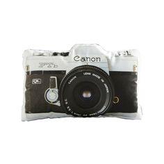Canon Throw Pillow #camera #photography #geeky / TechNews24h.com