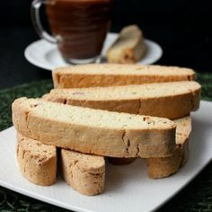 Vanilla Almond Biscotti Recipe Desserts with all-purpose flour, granulated sugar, baking powder, slivered almonds, sea salt, eggs, almond extract, pure vanilla extract
