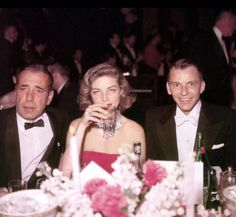 Bogart, Bacall, and Sinatra.
