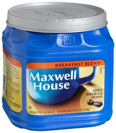 Maxwell House Breakfast Blend (Mild) Ground Coffee, 33-Ounce Plastic Jugs (Pack of 2) -- This is an Amazon Associate's Pin. Locate the item on Amazon website simply by clicking the VISIT button
