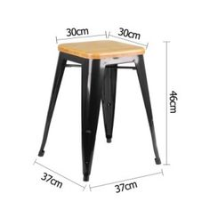 Ideal for home, office and cafés, this bar stool serves the purpose of providing seating comfort along with a neat, simple design. Quality made with a sturdy metal steel structure featuring a solid stylish bamboo seat, this cutting-edge bar stool will surely adapt to any home décor.
