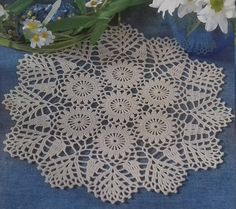 Hand crochet doily cotton lace home décor vintage crochet pattern 10 inch cozy house antique style by Czechhandmade on Etsy