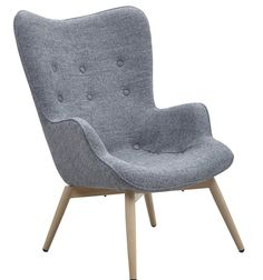 SalesFever Sessel Loungesessel mit Armlehnen und Wolle bezogen im Retro-Sty »Anjo« für 333,00€. Moderner Polstersessel im skandinavisches Design bei OTTO
