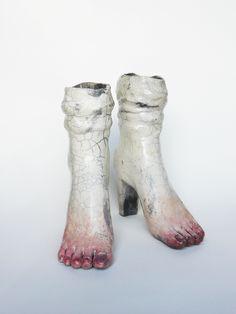 (cellular memory) // ceramic sculpture by Lidia Kostanek /. Feet (cellular memory) // ceramic sculpture by Lidia Kostanek /. -Feet (cellular memory) // ceramic sculpture by Lidia Kostanek /. Human Sculpture, Sculptures Céramiques, Art Sculpture, Ceramic Sculptures, Ceramic Pottery, Pottery Art, Ceramic Art, Illustrations, Illustration Art