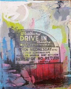 "Drive in 48x60""  acrylic on canvas"