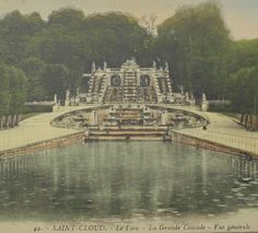 Saint Cloud, Paris, France - Unused Postcard by ChicEtChoc on Etsy