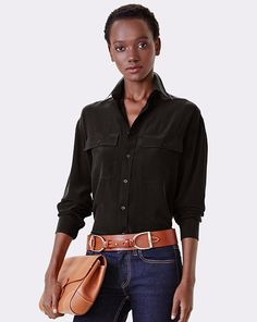 Antoinette Silk Shirt - Collection Apparel Long-Sleeve - RalphLauren.com