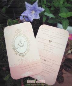 Wedding Card Vintage Style (in Pink)
