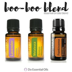 """If you have kids, then I know you have dealt with a lot of """"boo-boos."""" This roller blend was created with your little ones in mind and will help their owies feel better in no time! Rolling it on a band-aid or cotton ball every few hours will aid in the body's natural healing process.  Directions: -Use a 10mL glass roller bottle and add:  4 drops Lavender 4 drops Melaleuca 4 drops Frankincense -Fill the rest of the bottle with Fractionated Coconut oil.  -Shake well to mix the oils."""