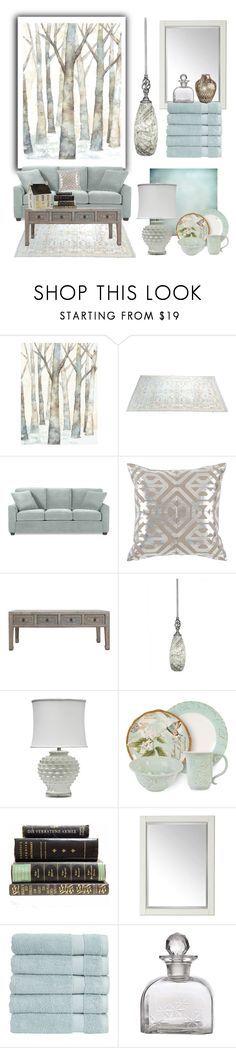 """""""Home Decor (sea spray green)"""" by kim-mcculley ❤ liked on Polyvore featuring interior, interiors, interior design, home, home decor, interior decorating, WALL, Toltec Lighting, Fitz & Floyd and Universal Lighting and Decor"""