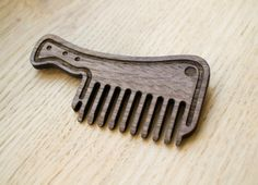 Wooden comb wood backsword hair comb beard comb by LaserBrothers